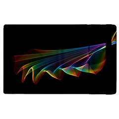 Flowing Fabric of Rainbow Light, Abstract  Apple iPad 2 Flip Case