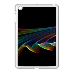 Flowing Fabric Of Rainbow Light, Abstract  Apple Ipad Mini Case (white)