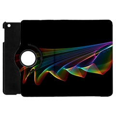 Flowing Fabric of Rainbow Light, Abstract  Apple iPad Mini Flip 360 Case