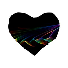 Flowing Fabric of Rainbow Light, Abstract  16  Premium Heart Shape Cushion