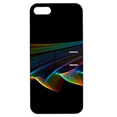 Flowing Fabric of Rainbow Light, Abstract  Apple iPhone 5 Hardshell Case with Stand