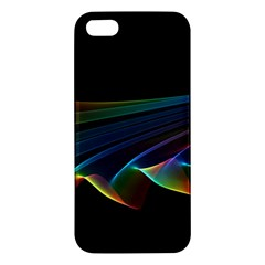 Flowing Fabric Of Rainbow Light, Abstract  Apple Iphone 5 Premium Hardshell Case