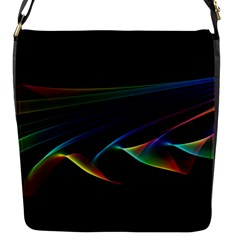 Flowing Fabric of Rainbow Light, Abstract  Flap Closure Messenger Bag (Small)