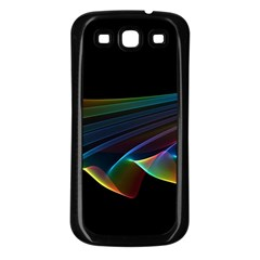 Flowing Fabric Of Rainbow Light, Abstract  Samsung Galaxy S3 Back Case (black)