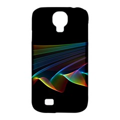 Flowing Fabric Of Rainbow Light, Abstract  Samsung Galaxy S4 Classic Hardshell Case (pc+silicone)