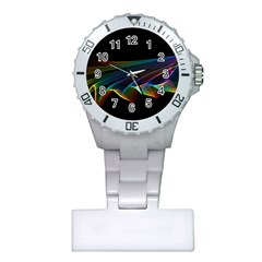 Flowing Fabric of Rainbow Light, Abstract  Nurses Watch