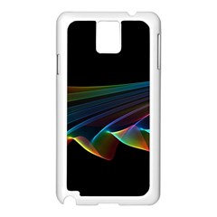 Flowing Fabric of Rainbow Light, Abstract  Samsung Galaxy Note 3 N9005 Case (White)