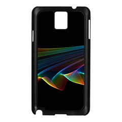 Flowing Fabric of Rainbow Light, Abstract  Samsung Galaxy Note 3 N9005 Case (Black)