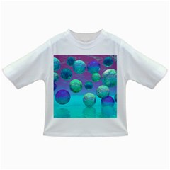 Ocean Dreams, Abstract Aqua Violet Ocean Fantasy Baby T Shirt