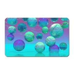 Ocean Dreams, Abstract Aqua Violet Ocean Fantasy Magnet (Rectangular)