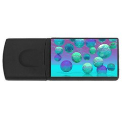 Ocean Dreams, Abstract Aqua Violet Ocean Fantasy 1GB USB Flash Drive (Rectangle)