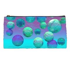 Ocean Dreams, Abstract Aqua Violet Ocean Fantasy Pencil Case