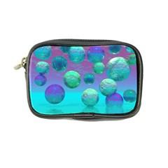 Ocean Dreams, Abstract Aqua Violet Ocean Fantasy Coin Purse