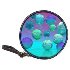 Ocean Dreams, Abstract Aqua Violet Ocean Fantasy CD Wallet