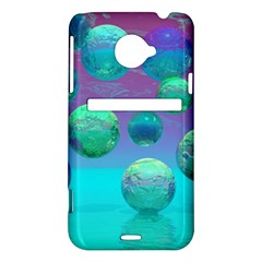 Ocean Dreams, Abstract Aqua Violet Ocean Fantasy HTC Evo 4G LTE Hardshell Case