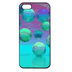 Ocean Dreams, Abstract Aqua Violet Ocean Fantasy Apple Iphone 5 Seamless Case (black)