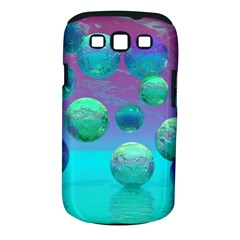Ocean Dreams, Abstract Aqua Violet Ocean Fantasy Samsung Galaxy S III Classic Hardshell Case (PC+Silicone)