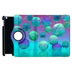 Ocean Dreams, Abstract Aqua Violet Ocean Fantasy Apple iPad 3/4 Flip 360 Case