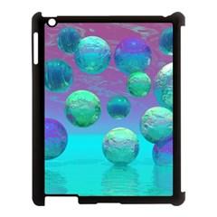 Ocean Dreams, Abstract Aqua Violet Ocean Fantasy Apple iPad 3/4 Case (Black)