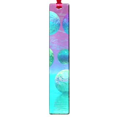 Ocean Dreams, Abstract Aqua Violet Ocean Fantasy Large Bookmark