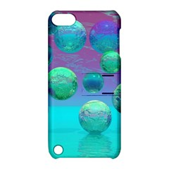 Ocean Dreams, Abstract Aqua Violet Ocean Fantasy Apple iPod Touch 5 Hardshell Case with Stand