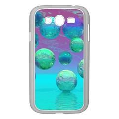Ocean Dreams, Abstract Aqua Violet Ocean Fantasy Samsung Galaxy Grand DUOS I9082 Case (White)