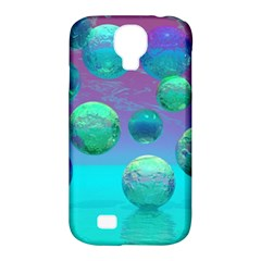 Ocean Dreams, Abstract Aqua Violet Ocean Fantasy Samsung Galaxy S4 Classic Hardshell Case (PC+Silicone)