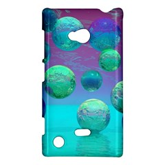Ocean Dreams, Abstract Aqua Violet Ocean Fantasy Nokia Lumia 720 Hardshell Case