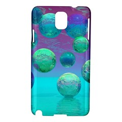 Ocean Dreams, Abstract Aqua Violet Ocean Fantasy Samsung Galaxy Note 3 N9005 Hardshell Case
