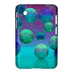 Ocean Dreams, Abstract Aqua Violet Ocean Fantasy Samsung Galaxy Tab 2 (7 ) P3100 Hardshell Case