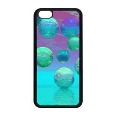 Ocean Dreams, Abstract Aqua Violet Ocean Fantasy Apple Iphone 5c Seamless Case (black)