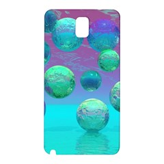 Ocean Dreams, Abstract Aqua Violet Ocean Fantasy Samsung Galaxy Note 3 N9005 Hardshell Back Case