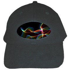 Fluted Cosmic Rafluted Cosmic Rainbow, Abstract Winds Black Baseball Cap