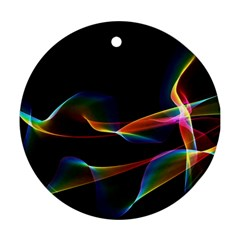 Fluted Cosmic Rafluted Cosmic Rainbow, Abstract Winds Round Ornament