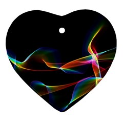 Fluted Cosmic Rafluted Cosmic Rainbow, Abstract Winds Heart Ornament