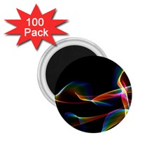 Fluted Cosmic Rafluted Cosmic Rainbow, Abstract Winds 1.75  Button Magnet (100 pack)