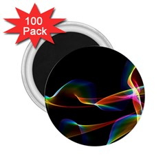 Fluted Cosmic Rafluted Cosmic Rainbow, Abstract Winds 2.25  Button Magnet (100 pack)