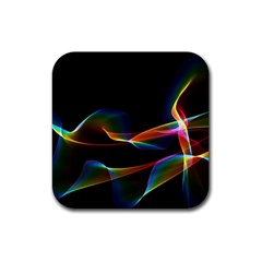 Fluted Cosmic Rafluted Cosmic Rainbow, Abstract Winds Drink Coaster (Square)