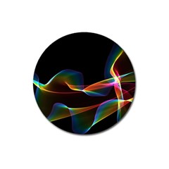 Fluted Cosmic Rafluted Cosmic Rainbow, Abstract Winds Magnet 3  (round)