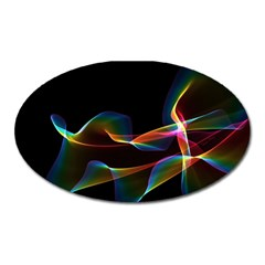 Fluted Cosmic Rafluted Cosmic Rainbow, Abstract Winds Magnet (Oval)