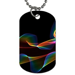 Fluted Cosmic Rafluted Cosmic Rainbow, Abstract Winds Dog Tag (Two-sided)