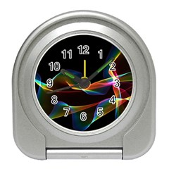 Fluted Cosmic Rafluted Cosmic Rainbow, Abstract Winds Desk Alarm Clock