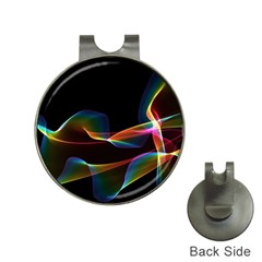 Fluted Cosmic Rafluted Cosmic Rainbow, Abstract Winds Hat Clip With Golf Ball Marker