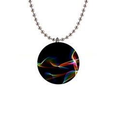 Fluted Cosmic Rafluted Cosmic Rainbow, Abstract Winds Button Necklace
