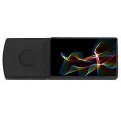 Fluted Cosmic Rafluted Cosmic Rainbow, Abstract Winds 4GB USB Flash Drive (Rectangle)