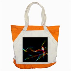 Fluted Cosmic Rafluted Cosmic Rainbow, Abstract Winds Accent Tote Bag