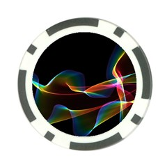 Fluted Cosmic Rafluted Cosmic Rainbow, Abstract Winds Poker Chip