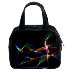 Fluted Cosmic Rafluted Cosmic Rainbow, Abstract Winds Classic Handbag (two Sides)