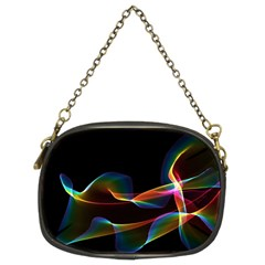 Fluted Cosmic Rafluted Cosmic Rainbow, Abstract Winds Chain Purse (Two Sided)
