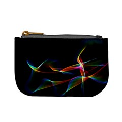 Fluted Cosmic Rafluted Cosmic Rainbow, Abstract Winds Coin Change Purse